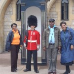 Kgomotsu, Peter and Tsholo at Windsor Castle