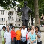 Mandela's statue in Parliament Square