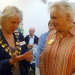 Jean in her Sherriff's chain and Beryl at supper party