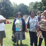 Peter, Mabel, Tumelo and Marcia at School Fete