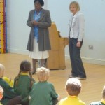 Mary Jane and Anna Ballance, Headteacher of Wolvercote School