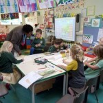 Mary Jane in a class at Wolvercote School
