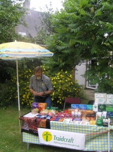 David manning his Fairtrade stall