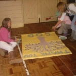 Banner making at the All-Age Harvest Activity