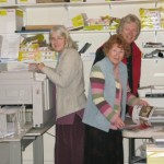 Jenny, Sue and Caroline at work in the Partnership Office